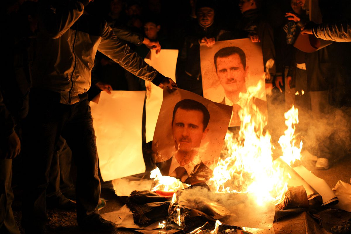 Assad protest 2012