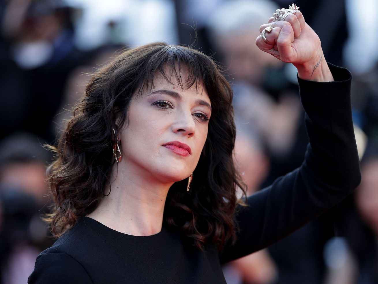Asia Argento, who has been accused of sexual assault by actor Jimmy Bennett, pictured at the Cannes Film Festival in May 2018.