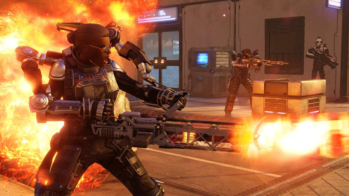 XCOM 2 - flamethrower