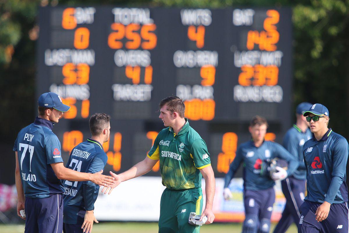 England U19 v South Africa U19
