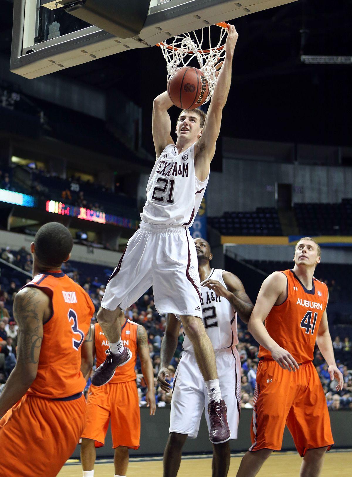 SEC Basketball Tournament - First Round-Auburn v Texas A&M
