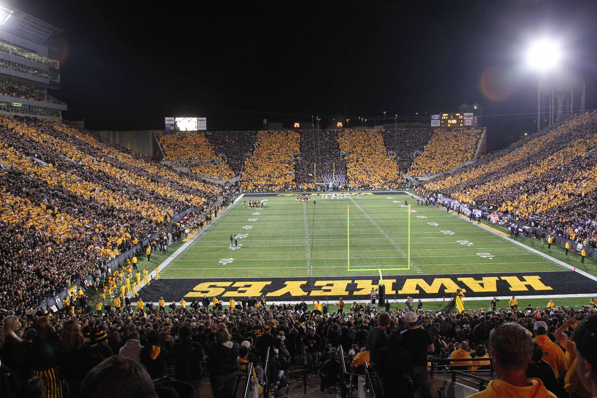I'm guessing Kinnick will look a lot like this that November night...