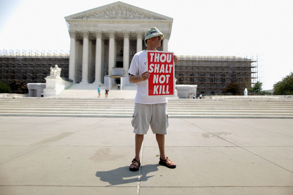 Anti-Death Penalty Activists Hold Vigil In Front Of U.S. Supreme Court