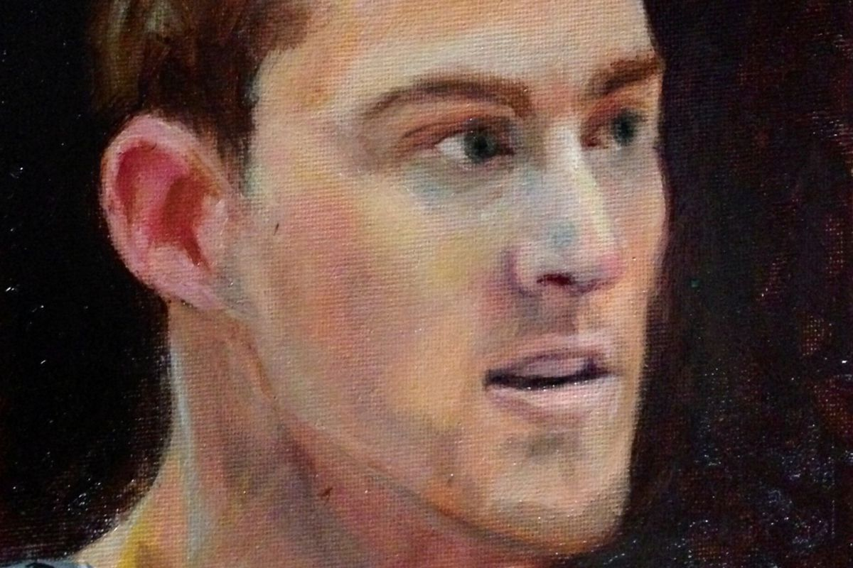 Aron Baynes - oil on canvas by Michal Dye