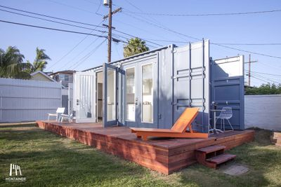 A light-filled shipping container full of upgrades: