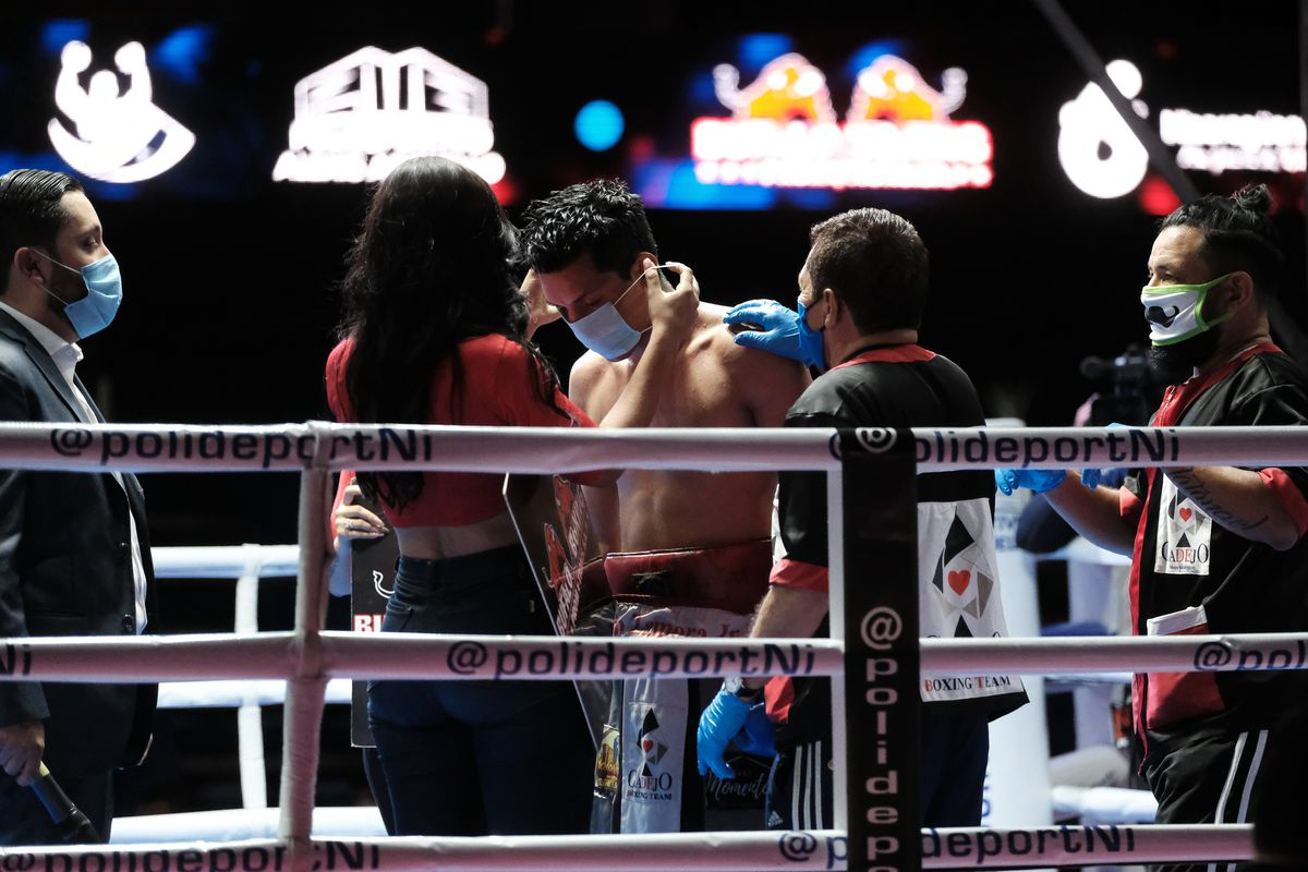 Coronavirus - Boxing Fights in Managua