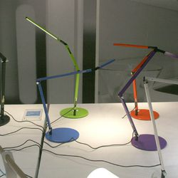 """<b>Koncept</b>'s <a href=""""http://koncept.com/products.php""""target=""""_blank"""">Equo lamps</a> are elegant, simple, super-adjustable and come a great rainbow of colors."""