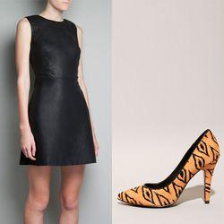 "A-line pleather + printed ponyhair = queen of the jungle   <b>Zara</b> A-line Dress in black, <a href=""http://www.zara.com/webapp/wcs/stores/servlet/product/us/en/zara-us-W2012/269185/1117062/A-LINE%20DRESS?abt=s-ptd&utm_expid=66806956-45&utm_referrer=htt"