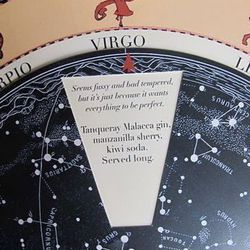 "[Photo: <a href=""http://www.alcademics.com/2014/01/trick-dogs-new-astrology-wheel-menu-debuting-today.html"">Camper English/Alcademics</a>]"