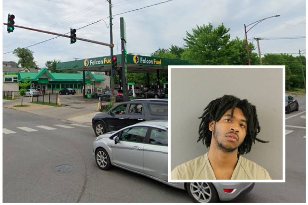 Terrell Vining (insert) faces a count of first-degree murder in a Jan. 15 shooting near the intersection of 63 and Halsted streets that killed 20-year-old Sasha Moore.
