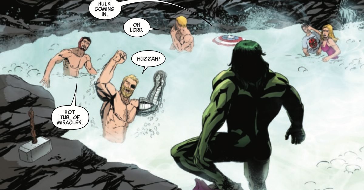 See The Avengers Unwind Naked In A Hot Tub After War Of The Realms - Polygon-3976