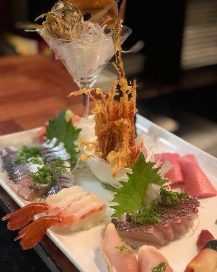 A spread from Midori Sushi