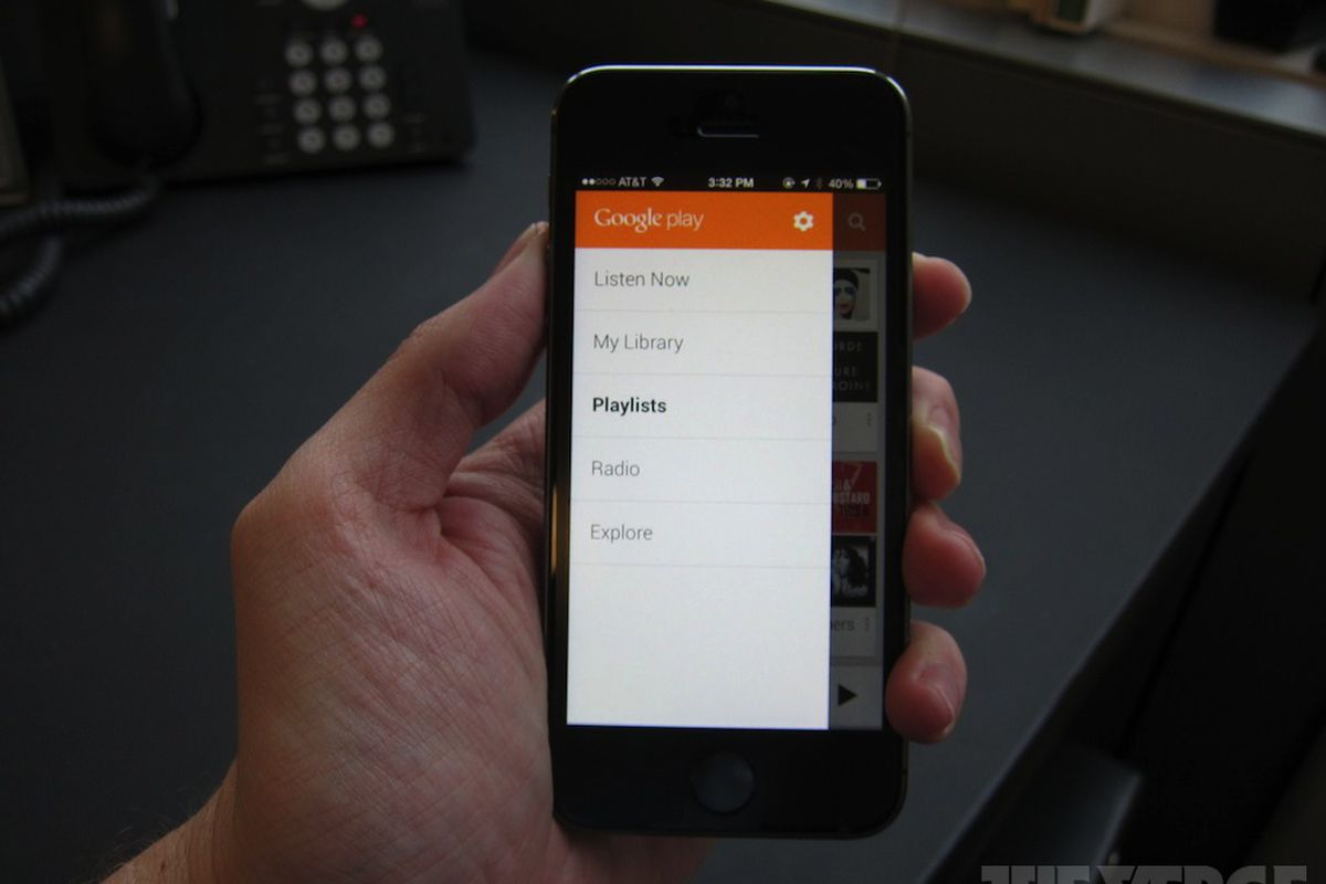 Google Play Music updated for iOS 7, adds 'I'm Feeling Lucky