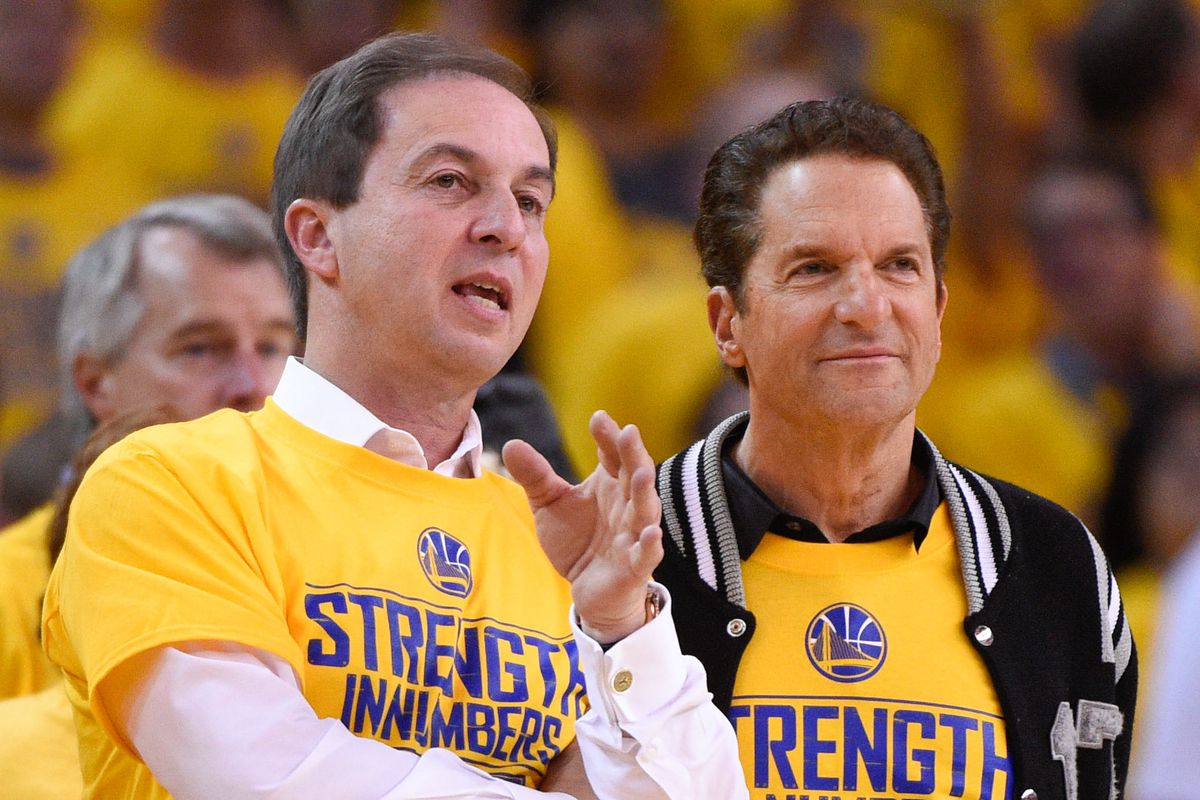 Guber (right): Ushered in new era of success with Warriors co-owner Lacob.