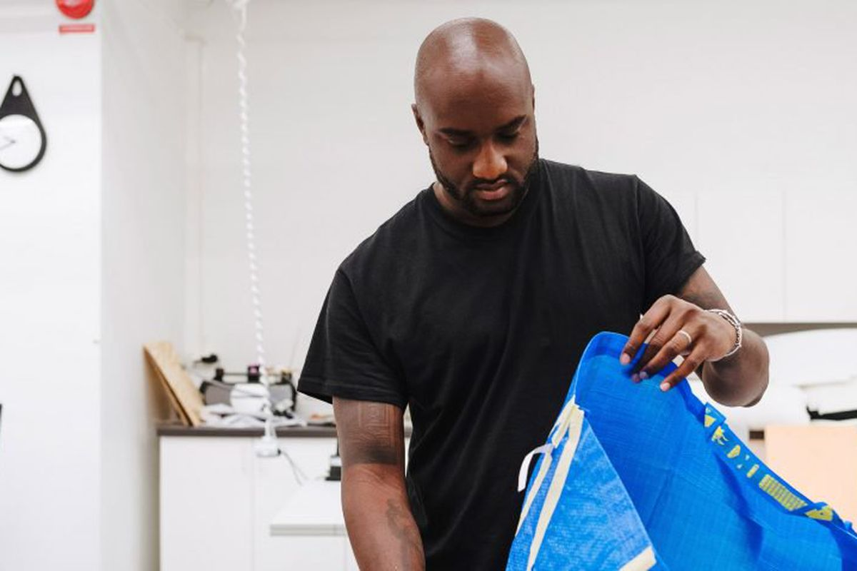 ikea off white collaboration rug teased by virgil abloh curbed. Black Bedroom Furniture Sets. Home Design Ideas