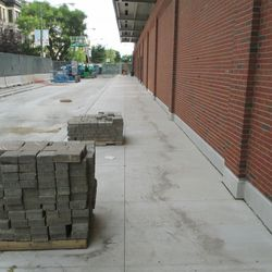 5:44 p.m. The Sheffield Avenue sidewalk appears to be complete -