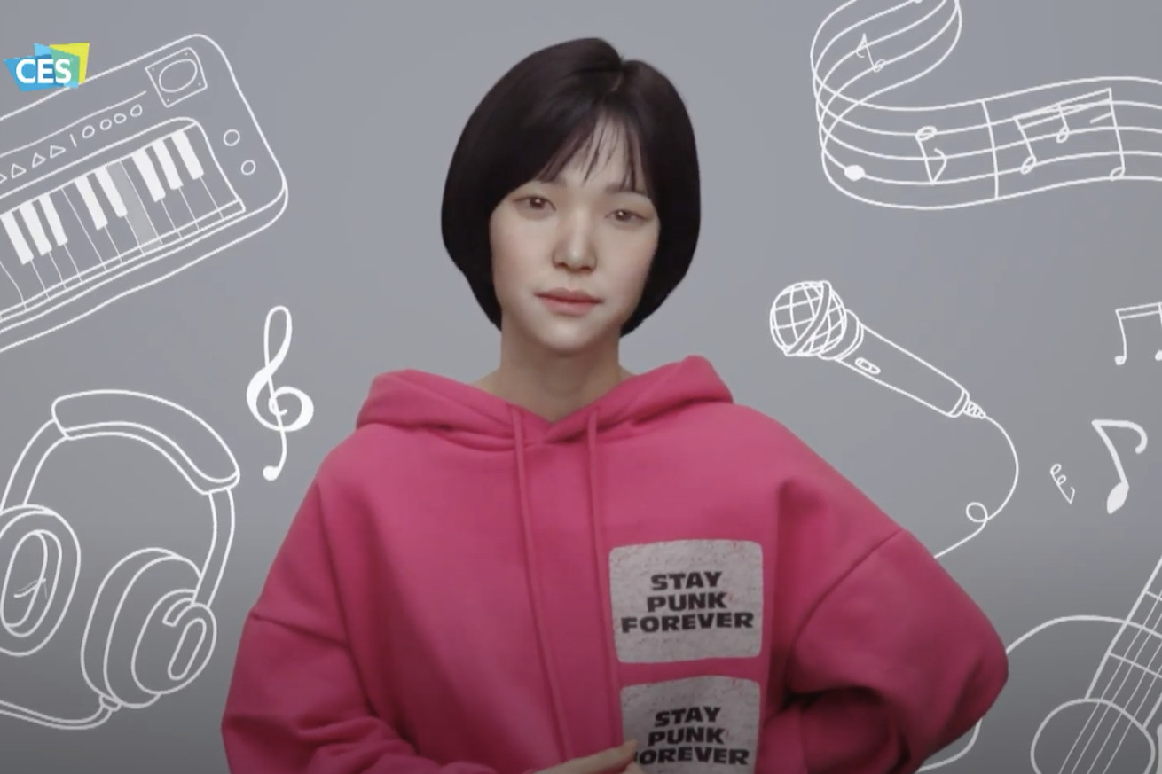 LG used a virtual influencer to announce new products during its CES keynote