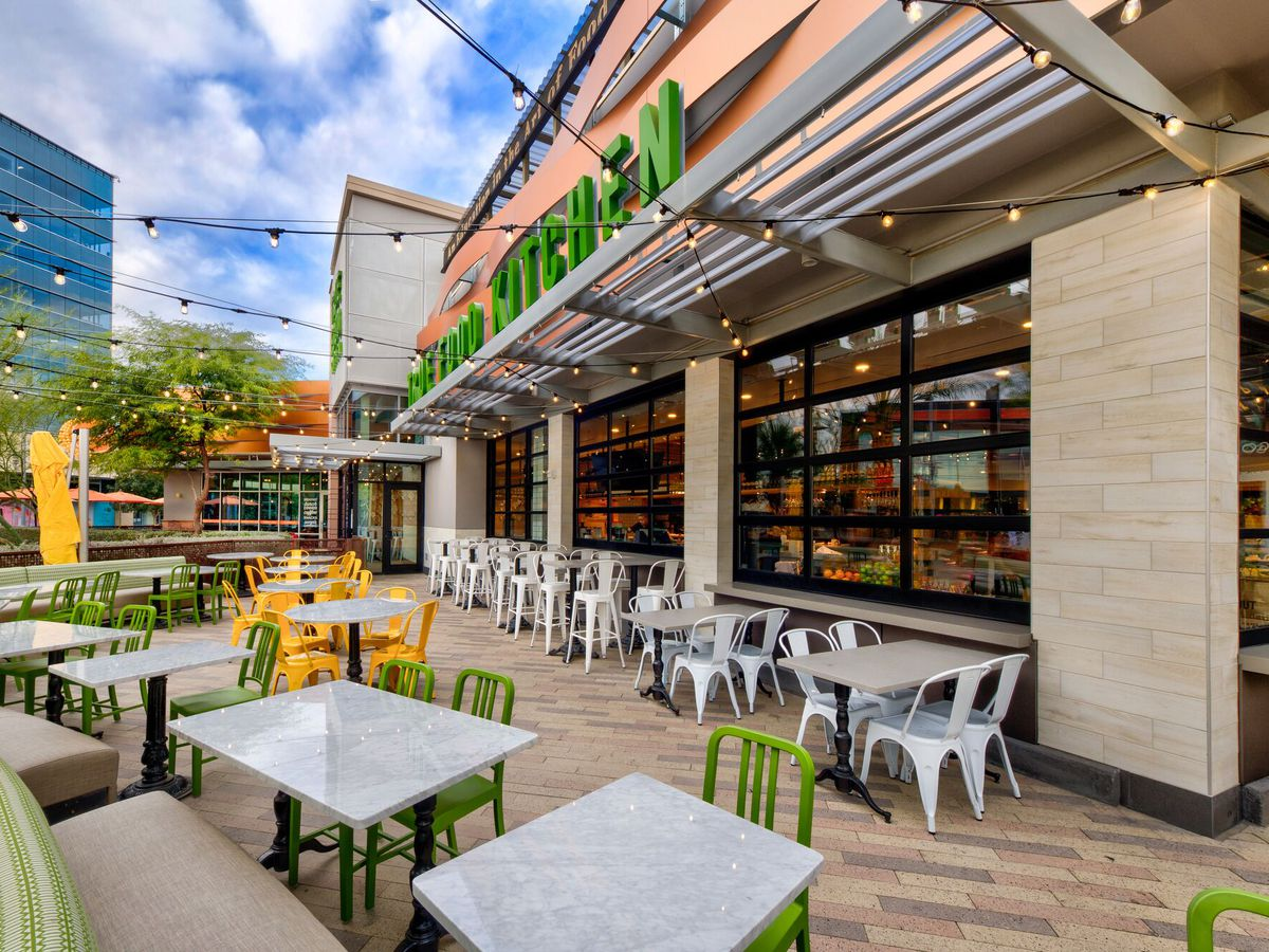 The outdoor patio at True Food Kitchen.
