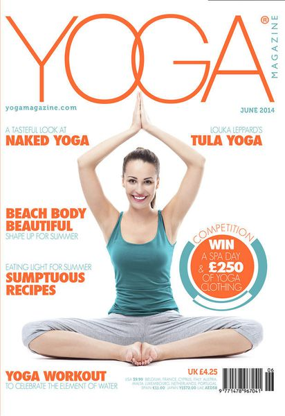 yoga magazine covers racked. Black Bedroom Furniture Sets. Home Design Ideas