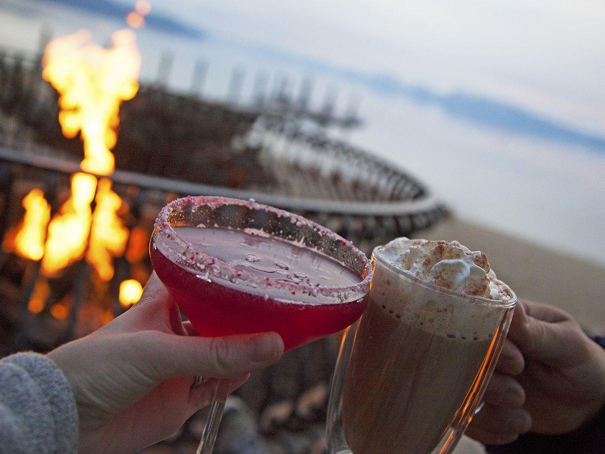 Drinks at the Hyatt Regency Lake Tahoe.