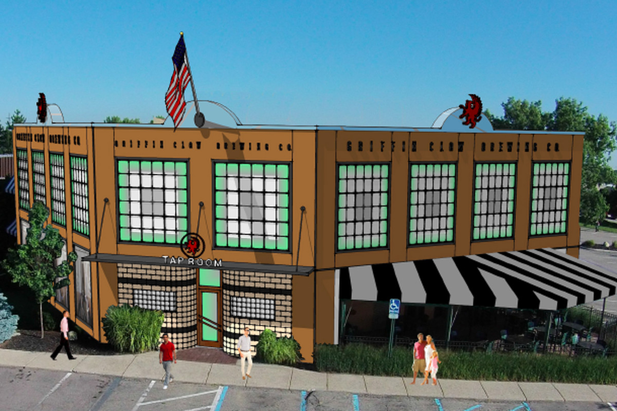 A rendering of the Griffin Claw's second brew pub in Rochester Hills.