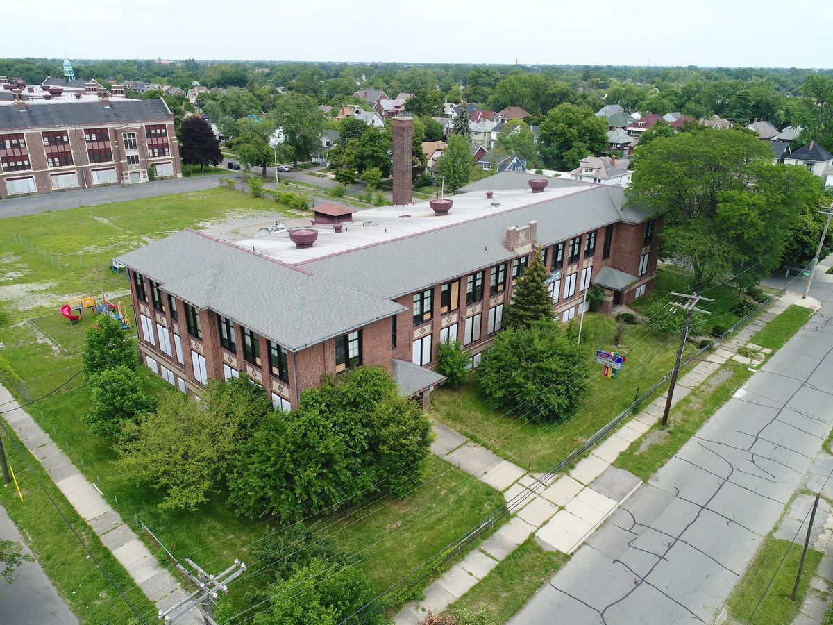 The former Anna M. Joyce Elementary School has sat vacant since it was closed by the district in 2009. A charter school has been blocked from buying it.