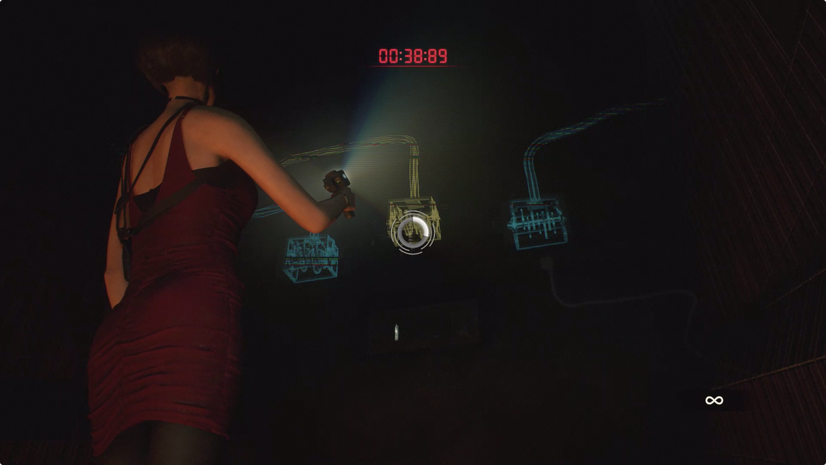 Resident Evil 2Ada escaping the incinerator