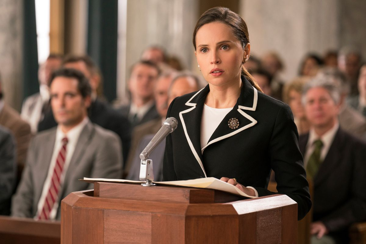 On The Basis Of Sex Review Felicity Jones Stars As Ruth Bader Ginsburg Vox