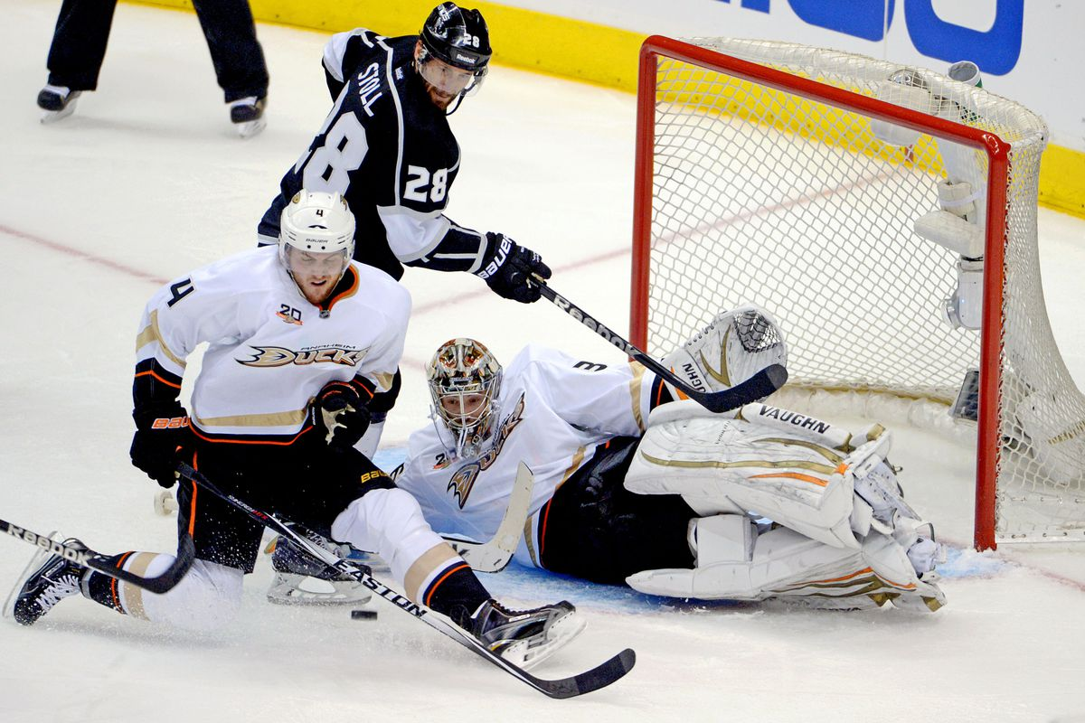 Everyone was impressed at how relaxed John Gibson was. I guess this shows it?