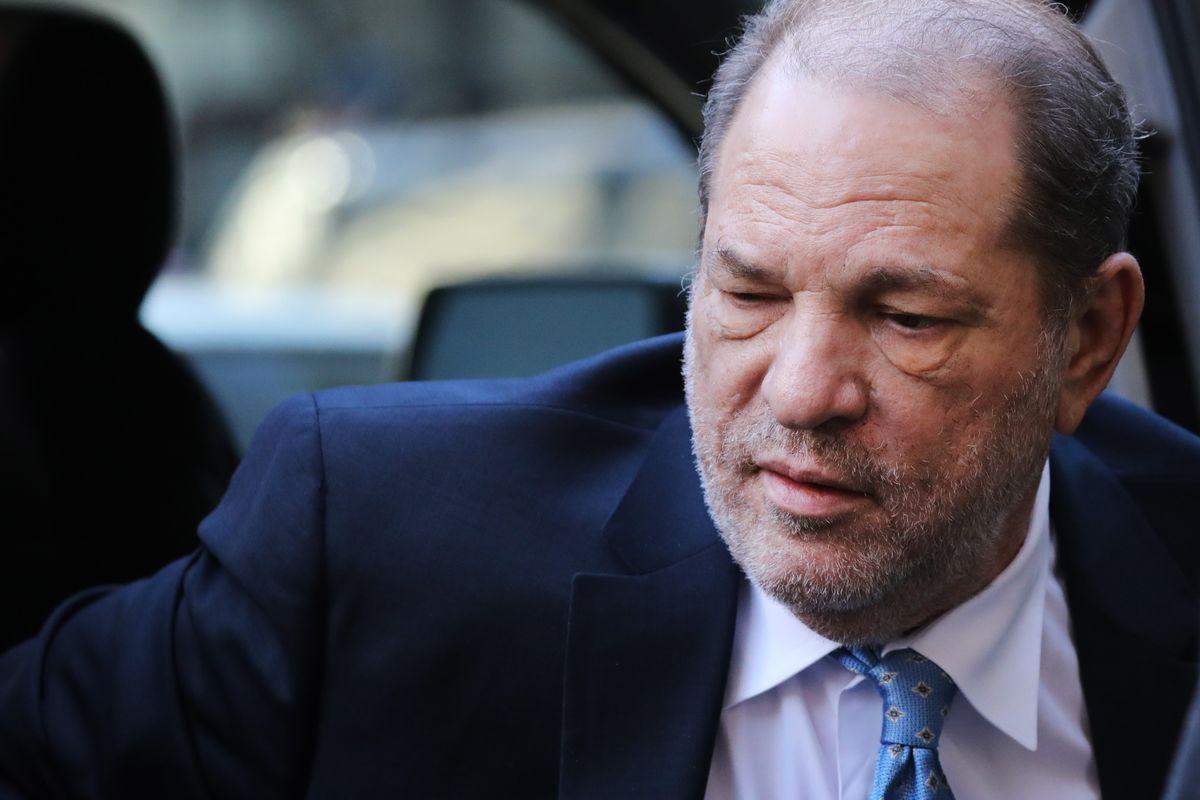 Harvey Weinstein, shown in closeup of head and shoulders.
