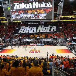 Utah Jazz and LA Clippers during the NBA playoffs in Salt Lake City on Thursday, June 10, 2021. The Jazz won 117-111.