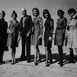 "And then came the 70s. Photo via <a href-""http://www.uahf.org/ua_flight_attendants_fashions.asp"">UAHF.org.</a>"