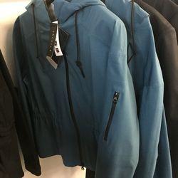 Theory + blue rain jacket, $109 (was $295)