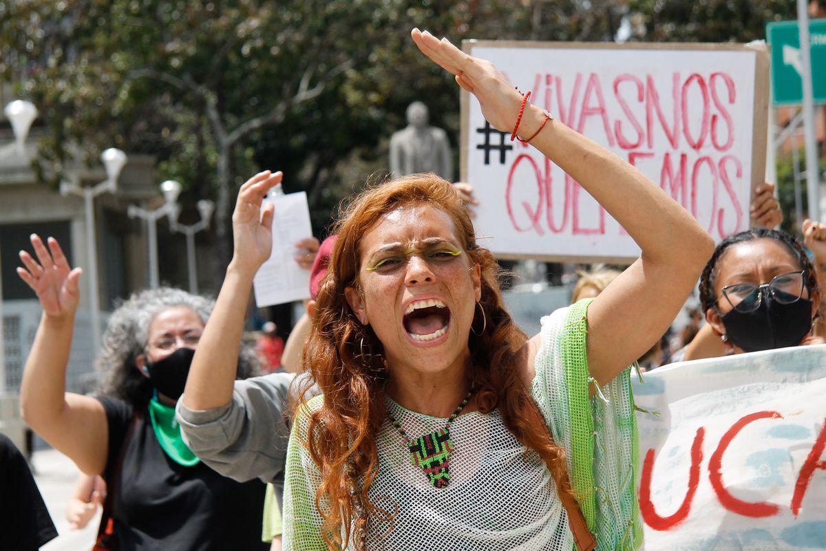 International Women's Day In Caracas, Venezuela