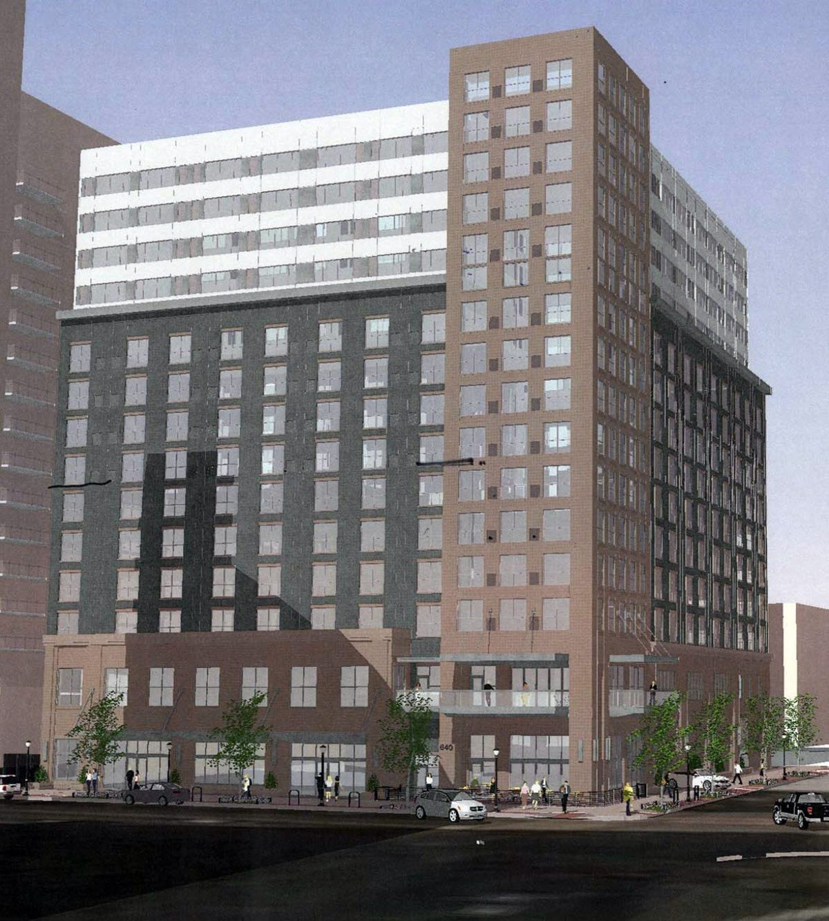 A rendering of the boring, old hotel design.