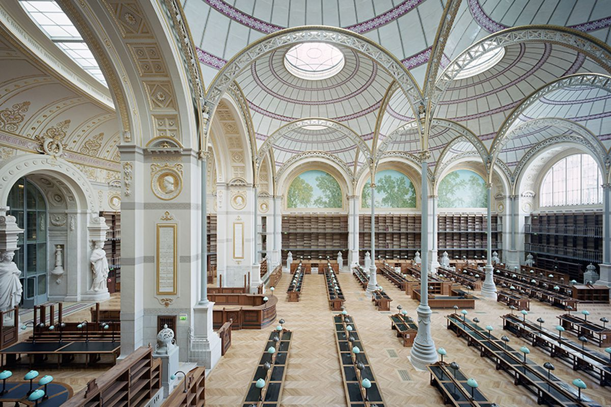paris s 19th century national library dazzles after renovation curbed. Black Bedroom Furniture Sets. Home Design Ideas