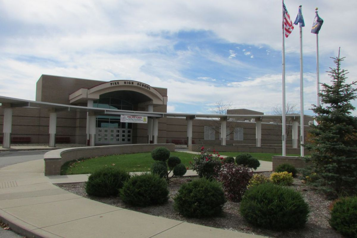 Pike High School has raised its state report card grade to a B from a D over four years.