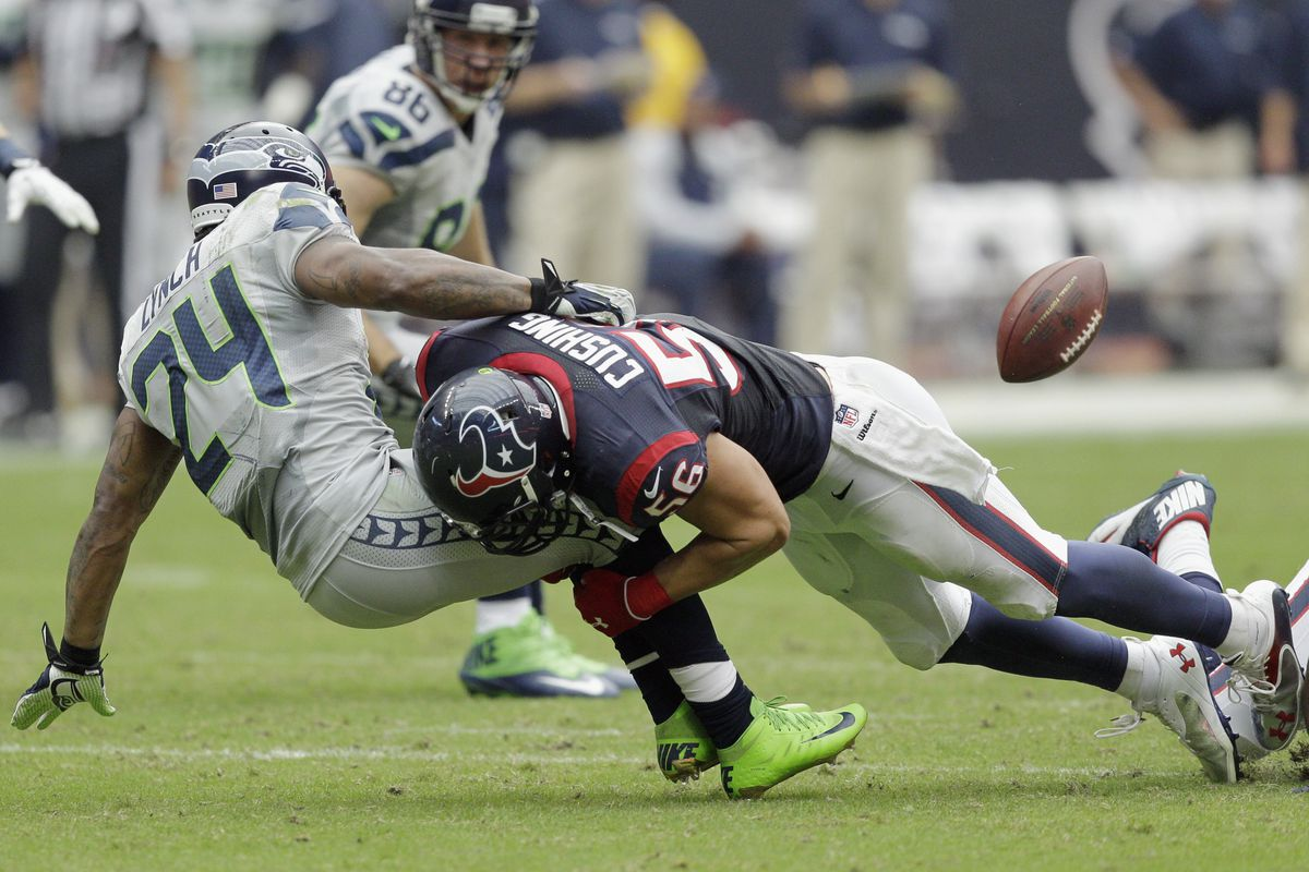 Brian Cushing, showing Marshawn Lynch why he got that contract extension.