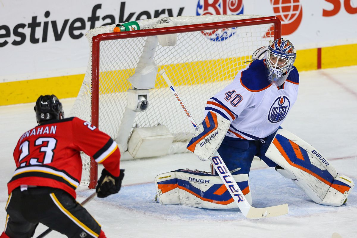 Calgary fans hope Sean Monahan figures in the Battle of Alberta for years to come.