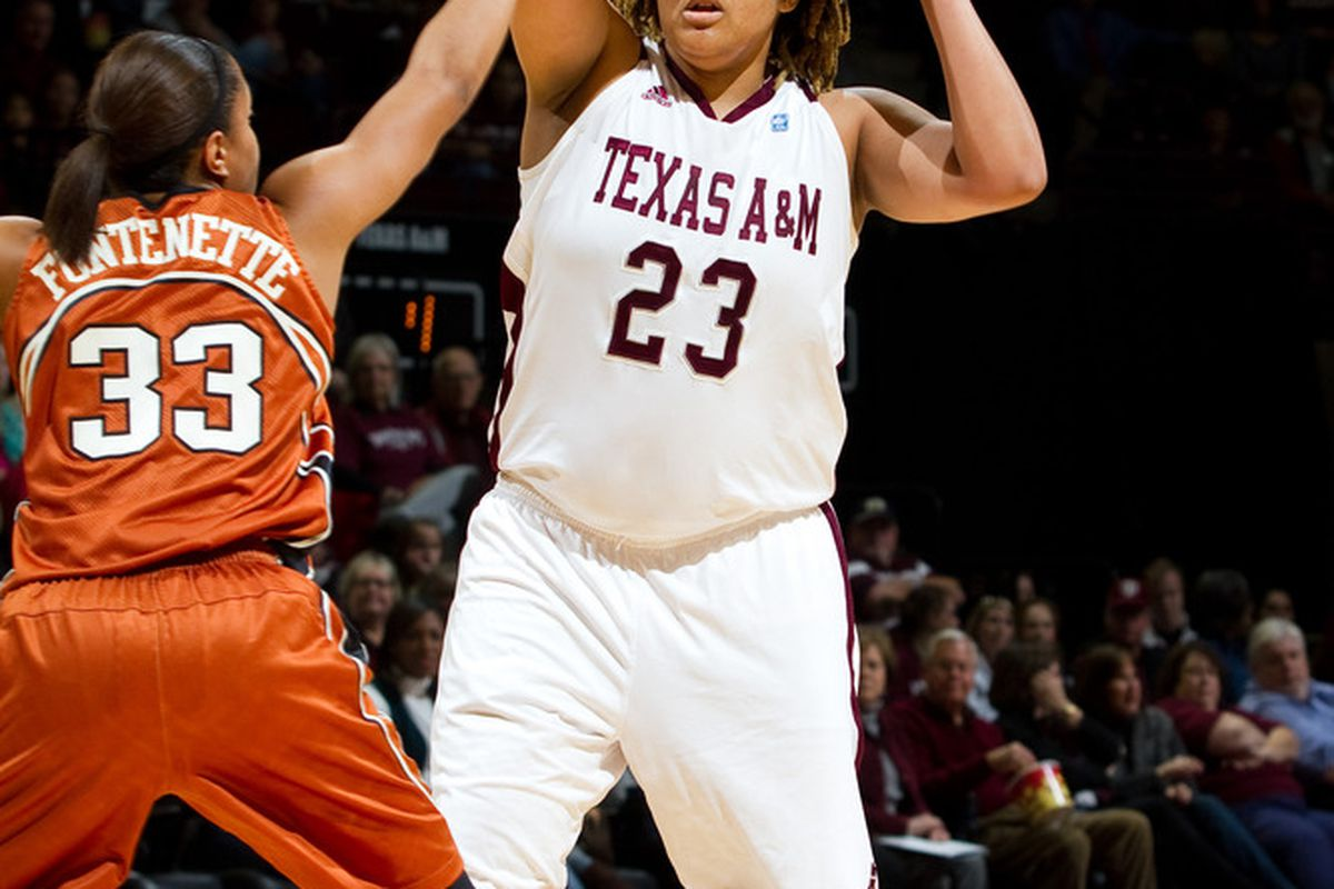 <em>Danielle Adams is a Post with Great Court Vision and Passing Skills...and a Championship Ring! (Photo Courtesy of TAMU Athletics)</em>