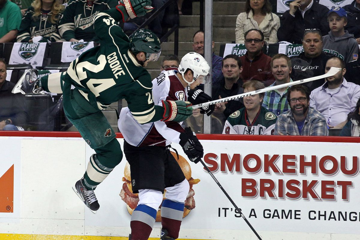 Matt Cooke has no friends in Colorado. Or with the Department of Player Safety.