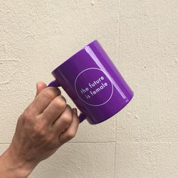 This mug is a collaboration with NYC gift shop Coming Soon.