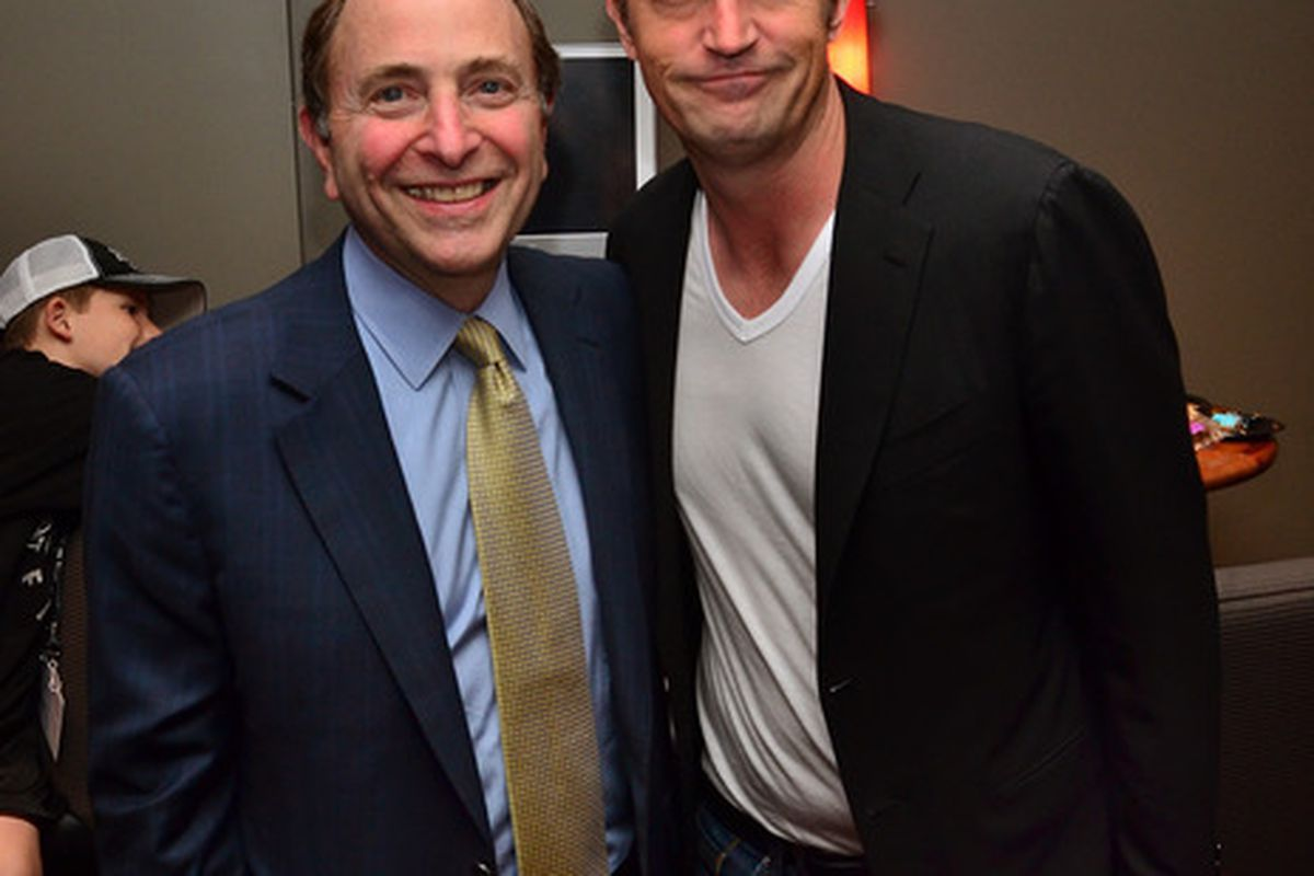 In the event of a lockout, Gary Bettman has already lined up a recurrent guest spot on Matthew Perry's new hit sitcom... um, what's the name of that thing again? Is it still on?