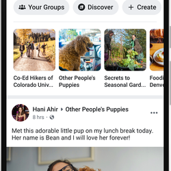 Facebook is redesigning its core app around the two parts people