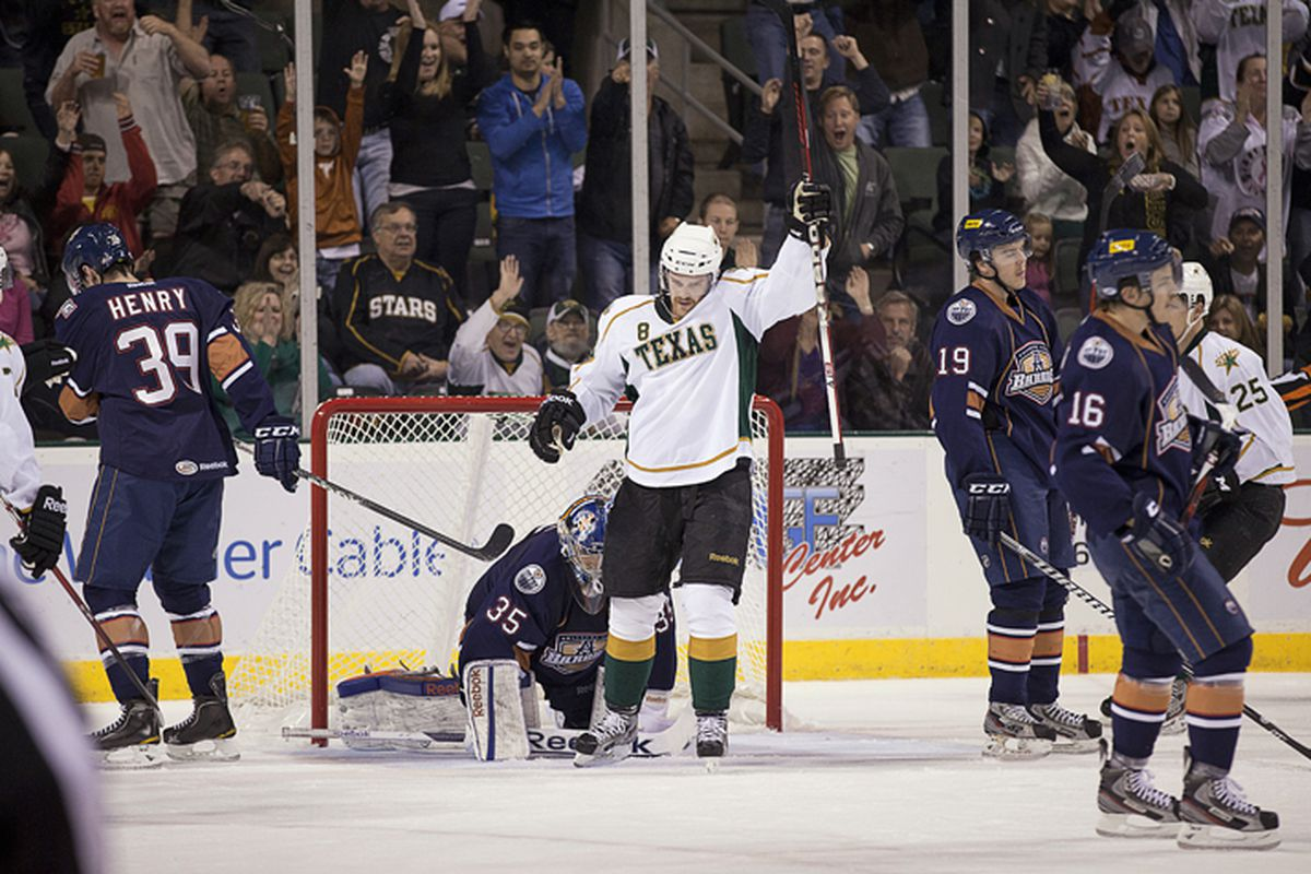 Jordie Benn managed to put one past Yann Danis in this November game. Danis could be a big obstacle for Texas this May.