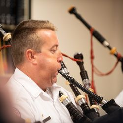 """""""Amazing Grace"""" is played by Chicago Fire Department Pipes & Drums on August 21, 2018. 