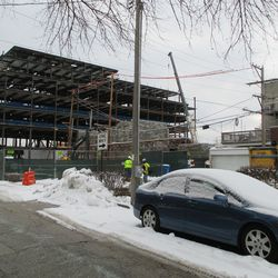 Wed 12/30: new buildings viewed from Seminary, another view -