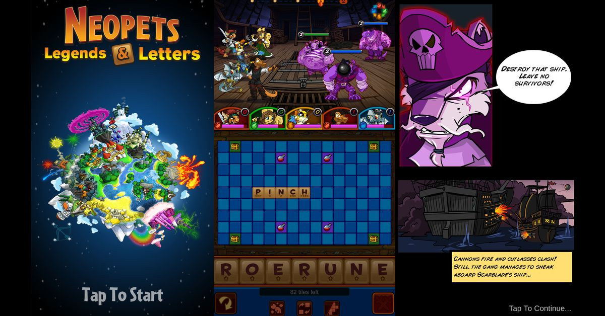 Neopets is making a mobile game that combines Scrabble and Neopets lore