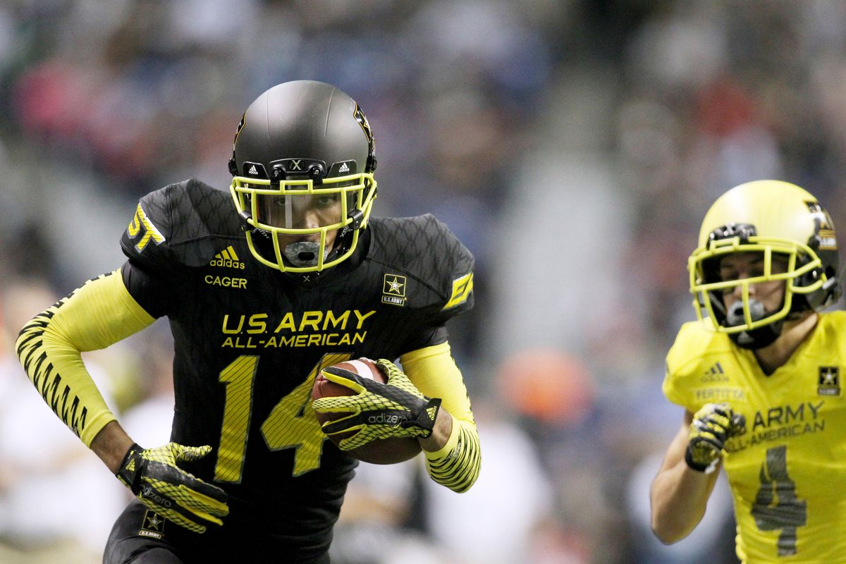 Lawrence Cager in the US Army All American Game