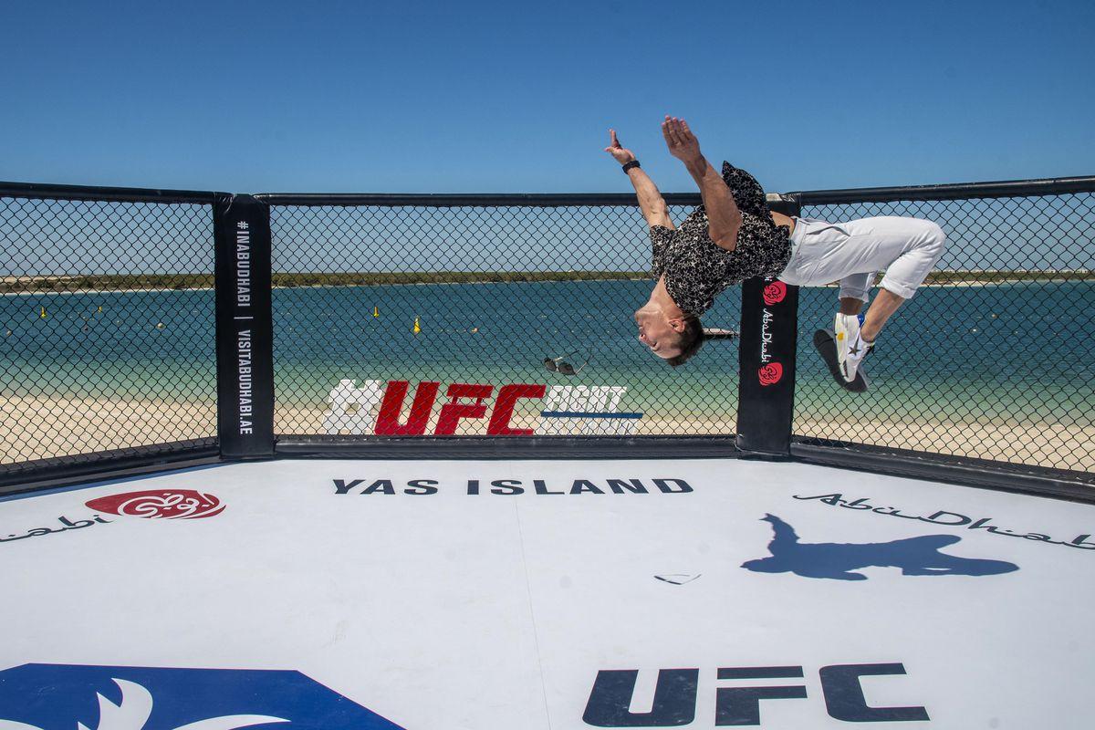 Michael Chandler flips over on Yas Island, in Abu Dhabi